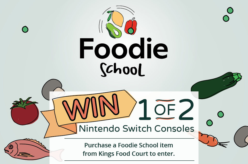 Win a nintendo switch thanks to Foodie School