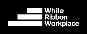 White Ribbon Workplace Accreditation Logo