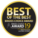 2019 Western Sydney Brides Choice Award - Best of the Best