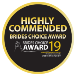 2019 Western Sydney Brides Choice Award - Highly Commended